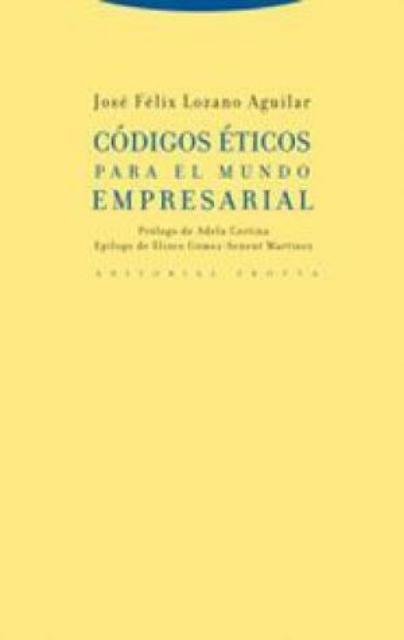 Book Cover: Códigos éticos para el mundo empresarial