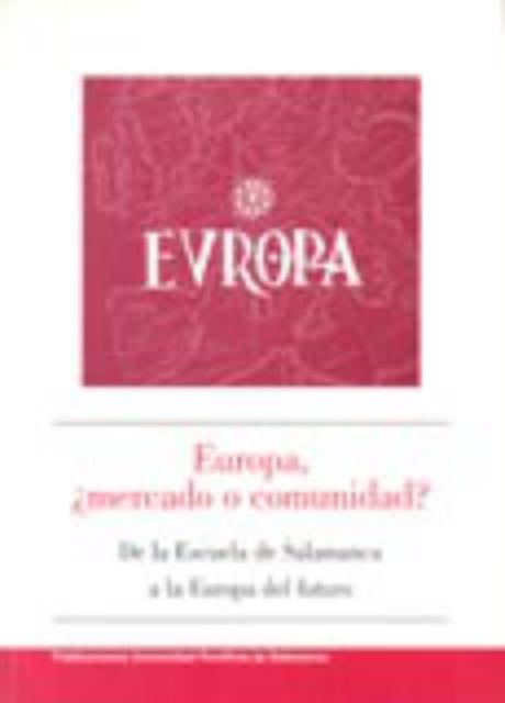 Book Cover: Europa, ¿mercado o comunidad?